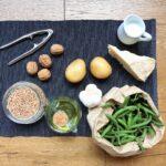 insalata farro, fagiolini, patate e pesto di noci