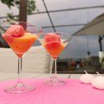 gelato papaya e fragole